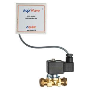 AquiWave wireless water shut-off solenoid valve