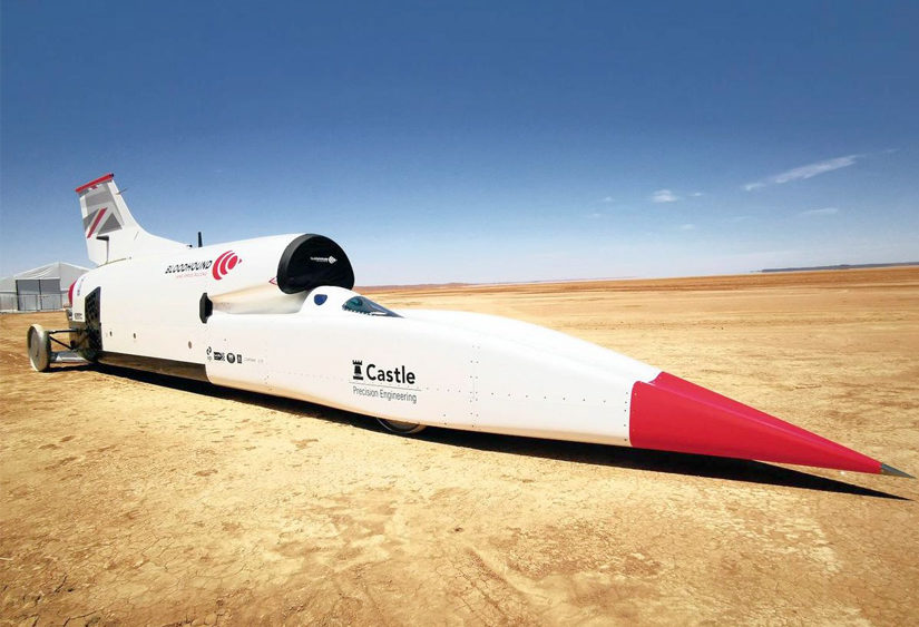 Bloodhound Land Speed Record Testing