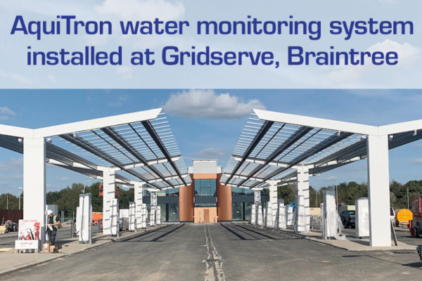AquiTron water monitoring system installed at Gridserve, Braintree, Essex