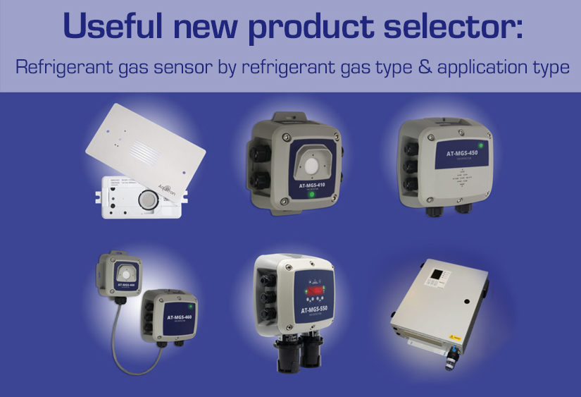 Refrigerant gas leak product selector